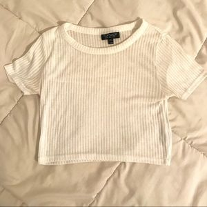 White Topshop Crop Top